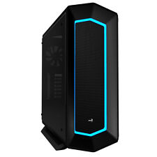 Aerocool P7C1 Tempered Glass Panel, Black Mid Tower 8 Colour LED  & PWM P7-C1BG