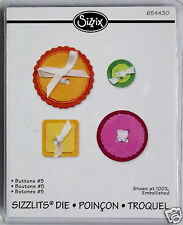 4 Buttons  Set #5   Sizzlits   Cutting Die  Sizzix  NIP