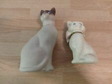 2 Collectible Avon Bottles/Decanters shaped like Cats