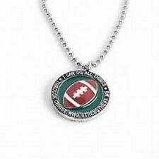"""Football Necklace, """"I can do all things through Christ who strenghtens me"""""""