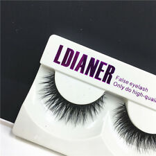 Hot Black Luxurious 100% Real Mink Natural Thick Eye Lashes False Eyelashes