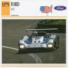1979 FORD M10 Racing Classic Car Photo/Info Maxi Card