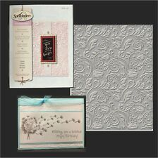 Spellbinders embossing folders FLORAL folder SES-007 Wedding,swirls
