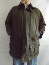VINTAGE BARBOUR JACKET BEAUFORT 3 CREST GREEN WAX COTTON COAT CHEST 46""