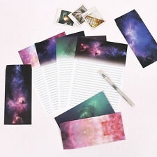 Starry Sky Writing Letter Set Stationary Paper & Envelope for Postcard &Letter