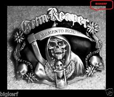"SONS OF ANARCHY  ""MEMENTO MORI""  SAMCRO REAPER  BIKER ROADGEAR  SOA  BELT BUCKLE"