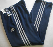 NWT $50 Men's ADIDAS ClimaWarm SWEATPANTS Athletic Track Run SMALL College Navy