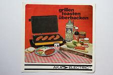 originale Werbung Gebrauchsanleitung DDR AKA Eectric Kontaktgrill (97)