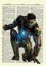 Iron Man The Avengers Dictionary Art Poster Picture Robert Downey Jr Marvel