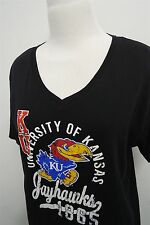 University of Kansas Jayhawks Basketball v-neck t-shirt top XL womens S/S#4616