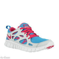 Nike Free Run 2 (GS) Youth Kids Girls Running Shoes Size 6Y 477701 400 Blue