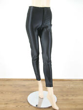 American Apparel Disco Pants Skinny Shiny High Waist Black XS 9208 BM12