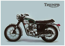 TRIUMPH Poster T100 Tiger T100R Daytona 1968 USA Suitable to Frame