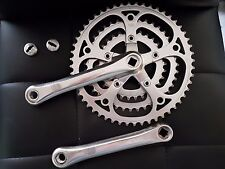 Triple pédalier STRONGLIGHT vintage axe carre crankset square taper 1970s french
