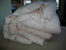 "VINTAGE WHITE Goose Down Comforter 88"" x 90"" MADE IN JAPAN BEIGE COLOR PUFFY!"