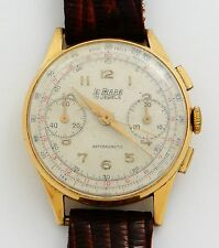 Le Phare Chronograph manual wind wristwatch, 18K gold - rf23979