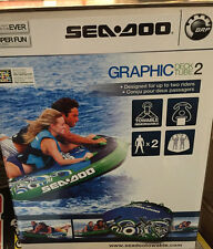 SeaDoo GRAPHIC Deck Tube 2 Rider New BRP Green Blue Towable NEW
