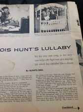 N1-6 Ephemera 1956 Article Folded Lois Hunt Singer 3 Pages Family Life