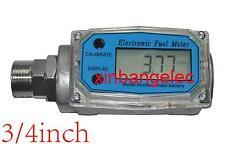 """3/4"""" Automatic Turbine Digital Diesel Oval Gear Fuel Flow Meter L/ GAL/PTS/QTS"""