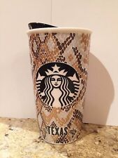 Starbucks 2015 Local City Collection TEXAS Ceramic Traveler Tumbler 12 oz