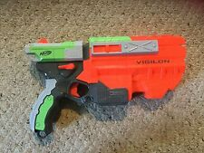 Pre Owned Nerf Vigilon Gun.  MISSING THE 5 Discs  See Pictures.