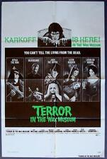 TERROR IN THE WAX MUSEUM (Fine) Movie Poster 1973 FOLDED One Sheet 1SH Sci-Fi