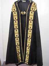 Vtge Black/Gold Mantle/Cloak/Cappa.Priest Vestments Church Clergy Ecclesiastical