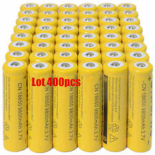 400X 18650 3.7V 9800mAh Yellow Li-ion Rechargeable Battery For Torch Flashlight