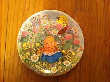 1986 Davenport Pottery Plate All Things Bright And Beautiful Limited Edition OOP
