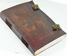 Leather Journal Handmade Paper Blank Diary Griffin Latches Notebook Genuine