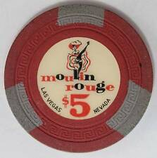1955 Moulin Rouge $5 1st Edition Casino Chip W. Las Vegas NV