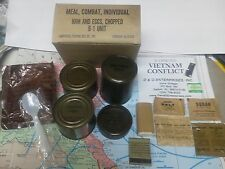 Military Vietnam C-Rations C-Ration meal - ONE box, ONE meal,.,