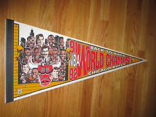 "MICHAEL JORDAN Back-to-Back Caricature CHICAGO BULLS 30"" Pennant"