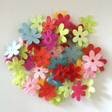 100PCS Padded Felt Spring Flower Appliques Craft DIY Wedding decoration making