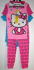 NWT HELLO KITTY SIZE 6 SLEEPWEAR 4-PCS.PINK AND BLUES MIX & MATCH 2 SETS OF PJ'S
