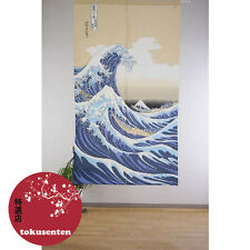 NOREN Traditionnel VAGUE SHIRANAMI UKIYOE Japonais Rideaux MADE IN JAPAN NEUF