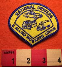 Vintage Trucker Patch NATIONAL DRIVERS & ALLIED WORKERS UNION ~ Transport 66WB