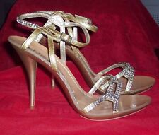 WOMENS MICHAEL ANTONIO  ANKLE STRAP NUDE FOOT SANDALS  SIZE 10 WITH STONES