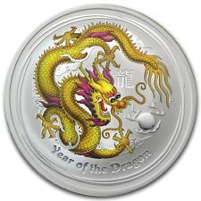 2012 1 oz Silver Australian Yellow Dragon Lunar Coin Direct From Mint Roll