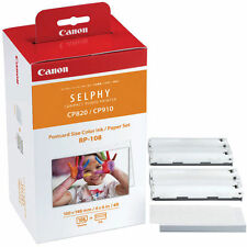 NEW Genuine CANON RP-108 High-Capacity Color Ink/Paper Set f/ SELPHY CP820 CP910