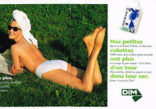 PUBLICITE  1993   DIM  sous Vetements slips pur blanc ( 2 pages)