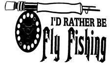 Fly Fishing Decal - Window sticker Car RV Hunting Fishing Outdoor Vinyl Decal