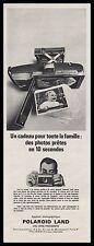 Publicité POLAROID LAND  appareil photo vintage print ad  1960 -4i