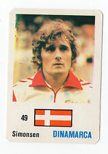 Football World Cup 1986 Portugese Pocket Calendar Allan Simonsen Denmark