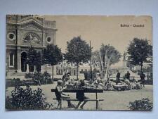 SCHIO giardini animata vecchia cartolina