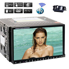 """Sony Lens Double 2Din 7""""Car Stereo Radio DVD Player iPod Bluetooth TV MP3+CAM"""