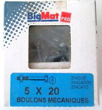 Boulons Mecaniques  tete hexagonale 5X20 BIG MAT pas cher