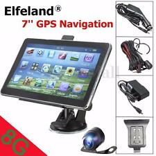 Elfeland 7'' Car GPS Navigation + Wireless Backup Camera Rear View Bluetooth