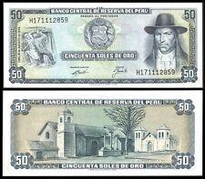 Peru 50 SOLES de Oro 15.8.1974 P 101c UNC