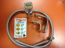 CROSSFIRE TIRE EQUALIZER SYSTEM 100 PSI STAINLESS STEEL HOSES Peterbilt Kenworth